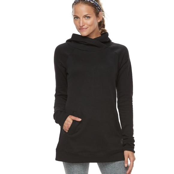 b6171e21053 w TAG TEK GEAR Hooded Fleece Tunic Sweater TOP